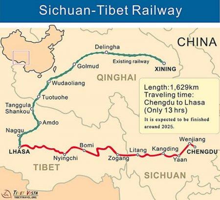 В Китае строят самую сложную в мире скоростную железную дорогу